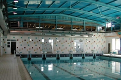 Cubierta en piscina